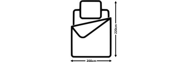 Größe 200x220 cm