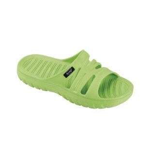 fashy Pantolette Badeschuhe Seafield, Farbe grün, Gr. 30-35
