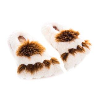 Habibi Slippers BIG FOOTS,Wärmepantoffeln für Mikrowelle/Backofen, Gr.M (37-40)