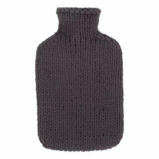 fashy Wärmflasche 2,0 ltr.Strickbezug grau