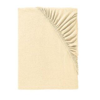 IDO Spannbetttuch Mako-Jersey,  Gr. 90/100x190/200cm, ecru