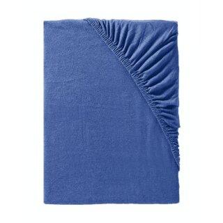 IDO Spannbetttuch Mako-Jersey,  Gr. 90/100x190/200cm, royal