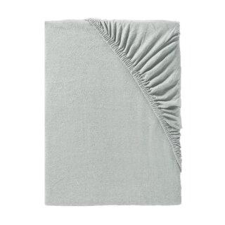 IDO Spannbetttuch Mako-Jersey, Gr. 180/200-190/200cm, platin