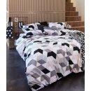 beddinghouse Bettwäsche Graphic Wood grey, Größe: 155x220+80x80cm