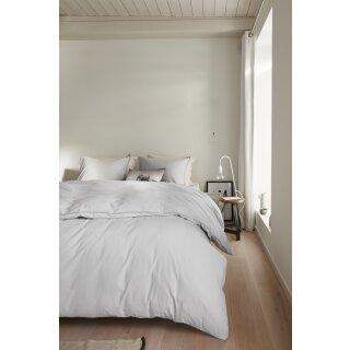 beddinghouse Bettwäsche Basic light grey, Größe: 155x220/80x80cm