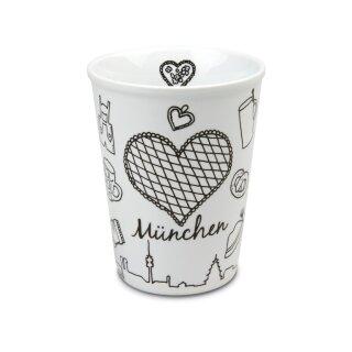 Coffe to go Mug mit TPE Deckel Motiv München