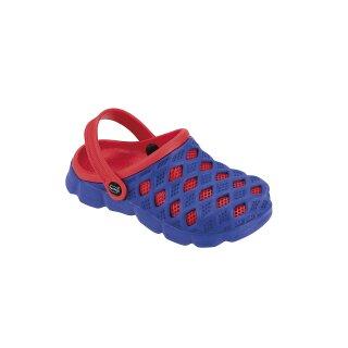 fashy Clog Sephia, Kinder Badeschuhe, Farbe: blau-rot