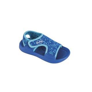 fashy Kinder Sandale/Badeschuh Bison, Farbe blau, Größe 23/24